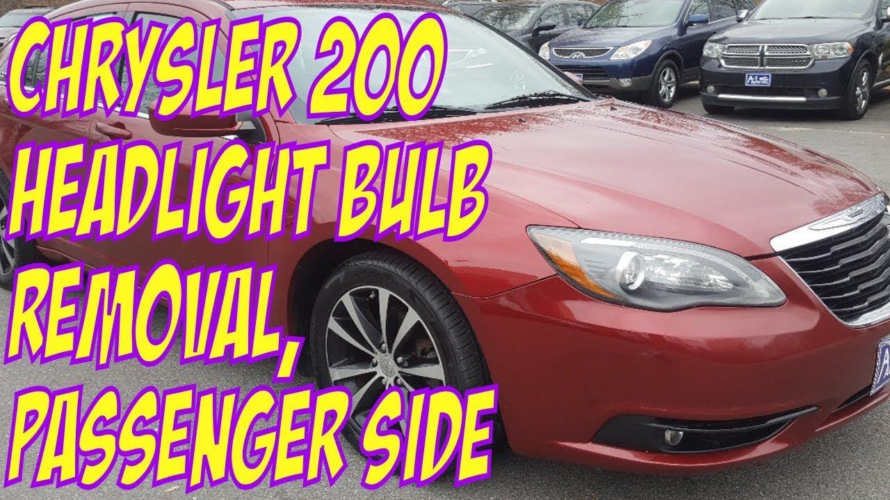 Chrysler 200 Headlight Bulb Removal Penger 9012