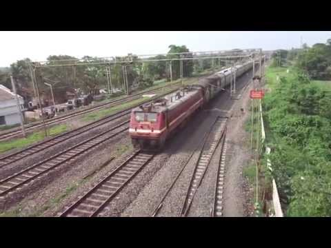 Puri Shatabdi burns tracks with famous SRC WAP4 in lead!!! [HD]