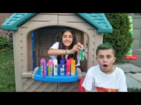 Color your Hair at the Playhouse Hair Salon - Kids Pretend Play