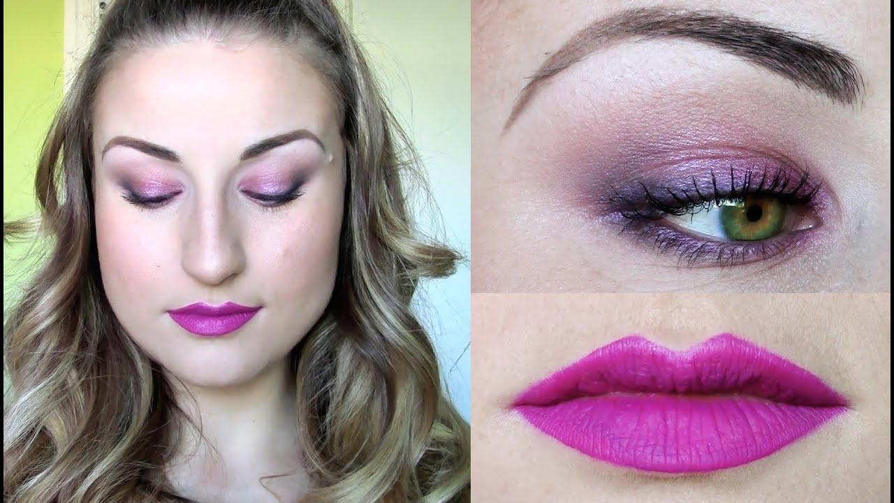 TUTORIAL:Maquillaje de ojos MALVA/morado/ROSADO/magenta y labiosMATE ...