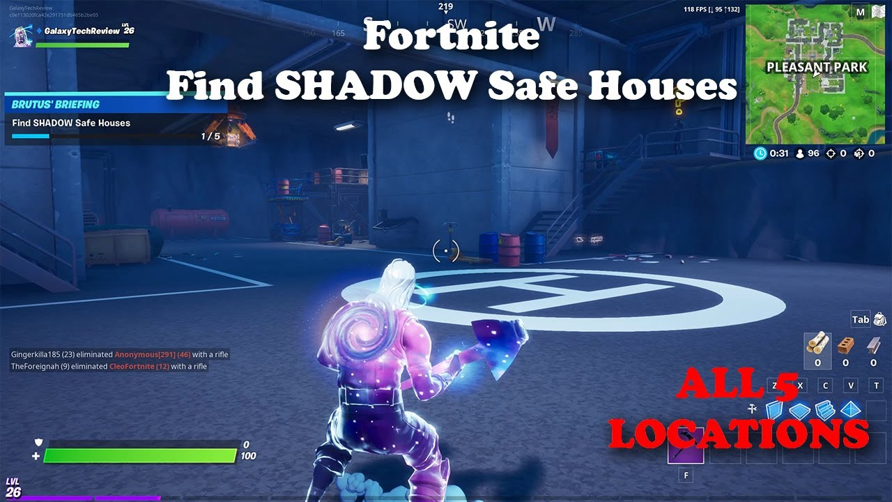 Find Shadow Safe Houses All 5 Locations Guide Youtube