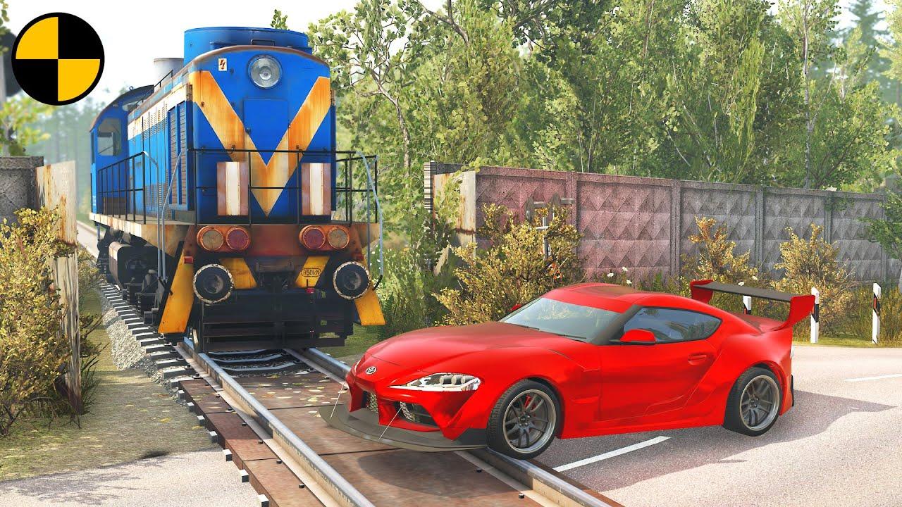 Cars vs Rails #2 😱 BeamNG.Drive