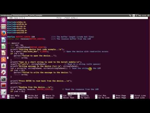 Kernel module example (char driver)