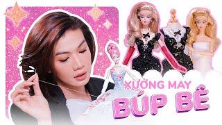 [VLOG] May BST Thu Đông Búp Bê Barbie | Đào Bá Lộc Tiết Lộ Người Khơi Nguồn Cảm Hứng May Đồ Búp Bê ♥