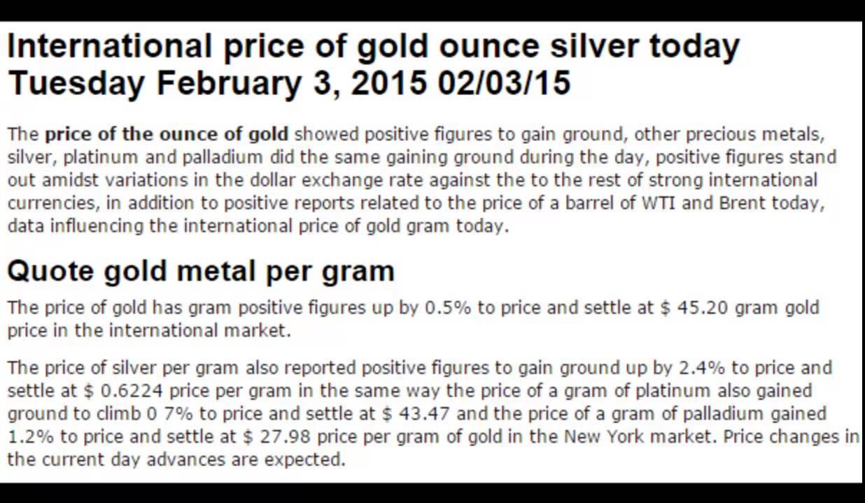 Gold Gram Prices Silver Platinum Palladium Metals Today February Tuesday 3 2017 02 03 15 Dollar Exchange Rates