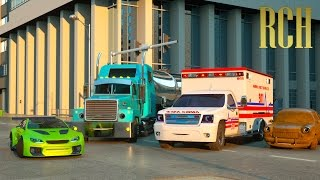 Download Florence the Ambulance and Ross the Race Car - Real City Heroes (RCH) | Videos for Children Mp3 and Videos