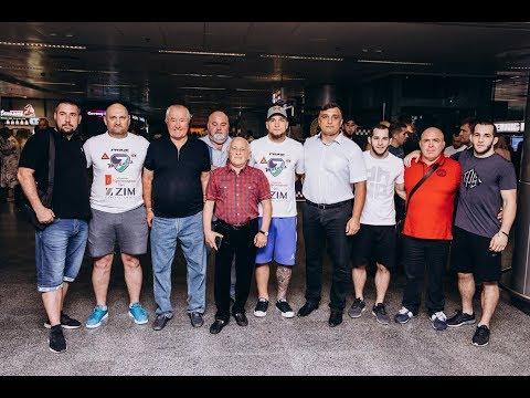 Ярослав Амосов в Киеве, после победного боя на Bellator 202