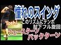 ゴルフ300ヤードお手本ドライバーショット!逆回転フェースターン右足ベタ足【Toshi】WGSLレッスンgolfドライバードラコンアイアンアプローチパター