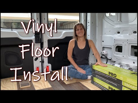 Van Conversion: Installing Vinyl Floor