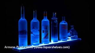 2ft Led Lighted Liquor Bottle Shelves Display Rail - Commercial Bar Club Decor