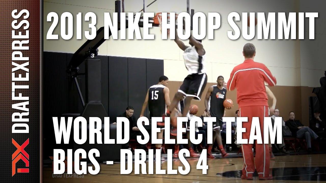 World Select Team Big Men - Post & Shooting Drills - 2013 Nike Hoop Summit - Towns, Jaiteh, and more