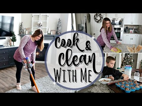 COOK & CLEAN WITH ME 2018 :: SPEED CLEANING MOTIVATION :: STAY AT HOME MOM CLEANING ROUTINE