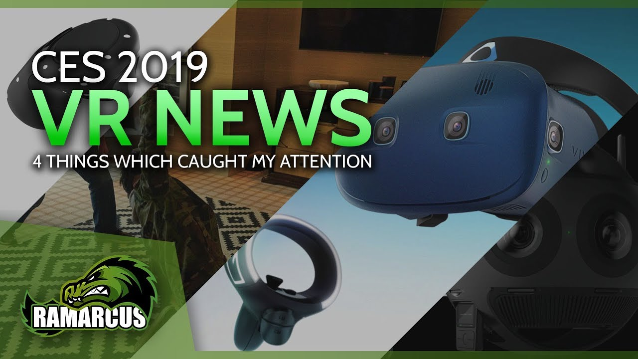 da21e9da1511 VR CES 2019   HTC Vive Cosmos   6dof Controllers for the Go   Oculus Quest    Insta360 Titan 11k VR