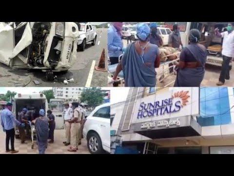 AP Energy Minister   Escort Vehicle Overturned At Koheda   1 Consatable Died   3 Consatable Injured