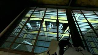 Portal 2 secret room turret singing and wall drawing