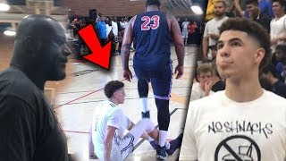 LaMelo Ball Disrespected in Front Of Shaq! Then Turns into a 6'8 Point God! Video