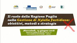 Xylella Fastidiosa: obiettivi, metodi e strategie
