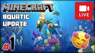 """[Archiwum] Live - Minecraft Wodna Aktualizacja z MaryKateAn (1) - [1/4] - """"Koralowce i statki"""""""