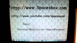 Universal Media Server, Install/setup then play back using computer and Sony Blu-ray player