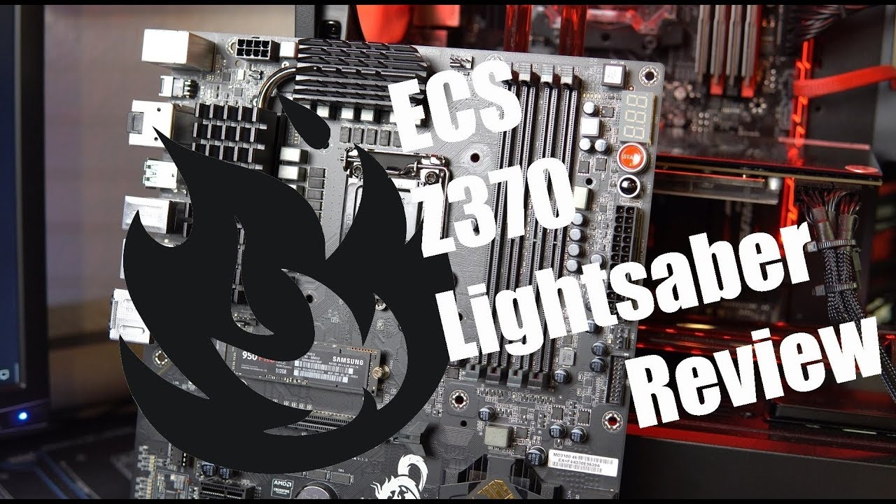 ECS Z370 Lightsaber Motherboard Review