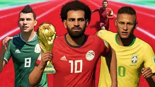 FASTEST PLAYERS IN THE WORLD CUP MODE! (FIFA 18 Speed Test)