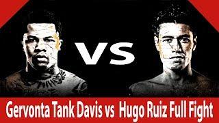 Gervonta Tank Davis vs  Hugo Ruiz Full Fight | 1st Round KNOCKOUT Win...
