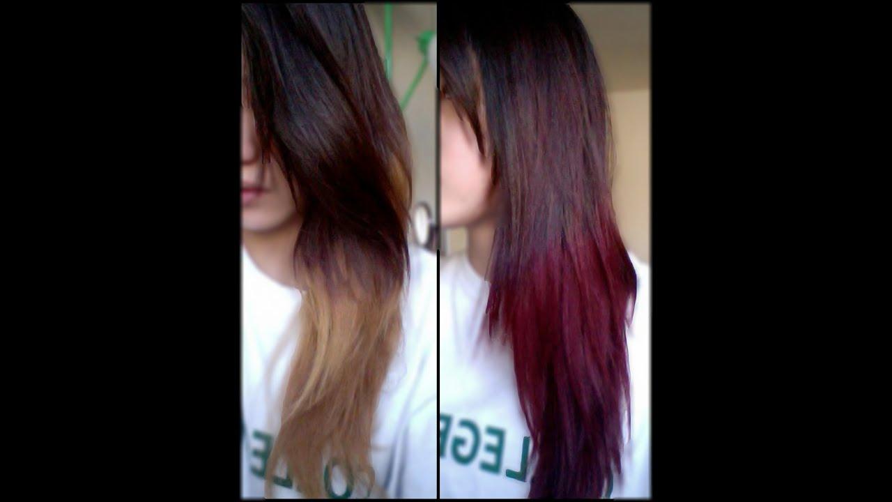 auburn-ombre hair coloring