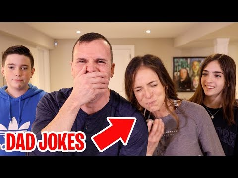 TRY NOT TO LAUGH CHALLENGE!! - DAD JOKES PART 5