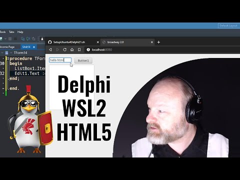 Deploying Delphi FMX As HTML5 Via WSL2 And FMXLinux