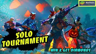 FREEFIRE SOLO TOURNAMENT || BLUESTACKS , WIN & GET FREE DIAMONDS  ||GARENA FREE FIRE