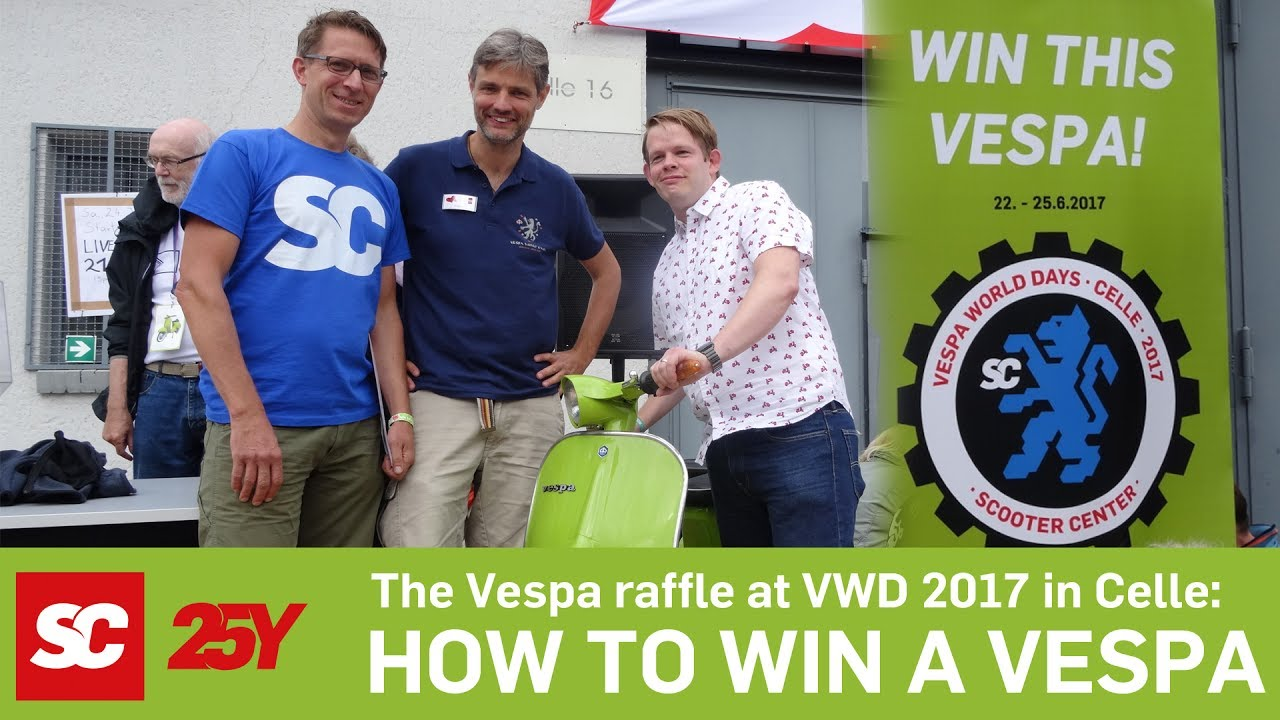 d3a853bebc2a11 Vespa Winner V50S VWD Celle 2017 Scooter Center - YouTube