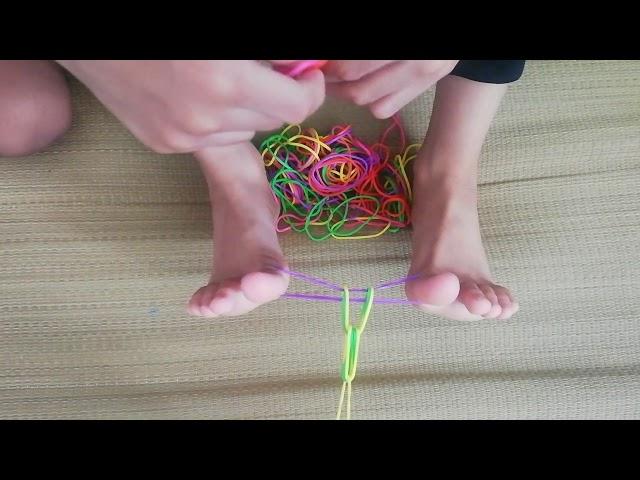 cara buat getah lompat dengan kaki!
