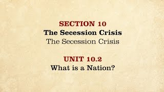 MOOC | What is a Nation? | The Civil War and Reconstruction, 1850-1861 | 1.10.2