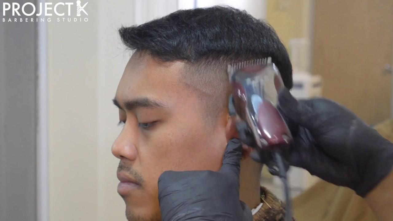 Men S Haircut Tutorial Shadow Fade Crew Cut Textured Top Youtube