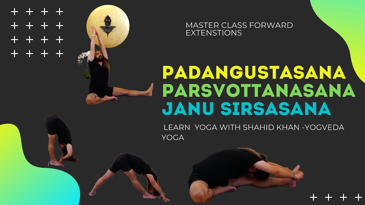 Yoga Master Class. Neues Video ist draußen, Padangusthasana, Parsvottanasana und Janu Sirsasana.