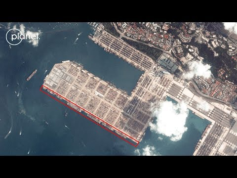 Watch the ship movements of Singapore harbor, captured by Planet's dove