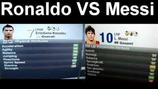 FIFA 12 | Cristiano Ronaldo VS Lionel Messi's Ratings