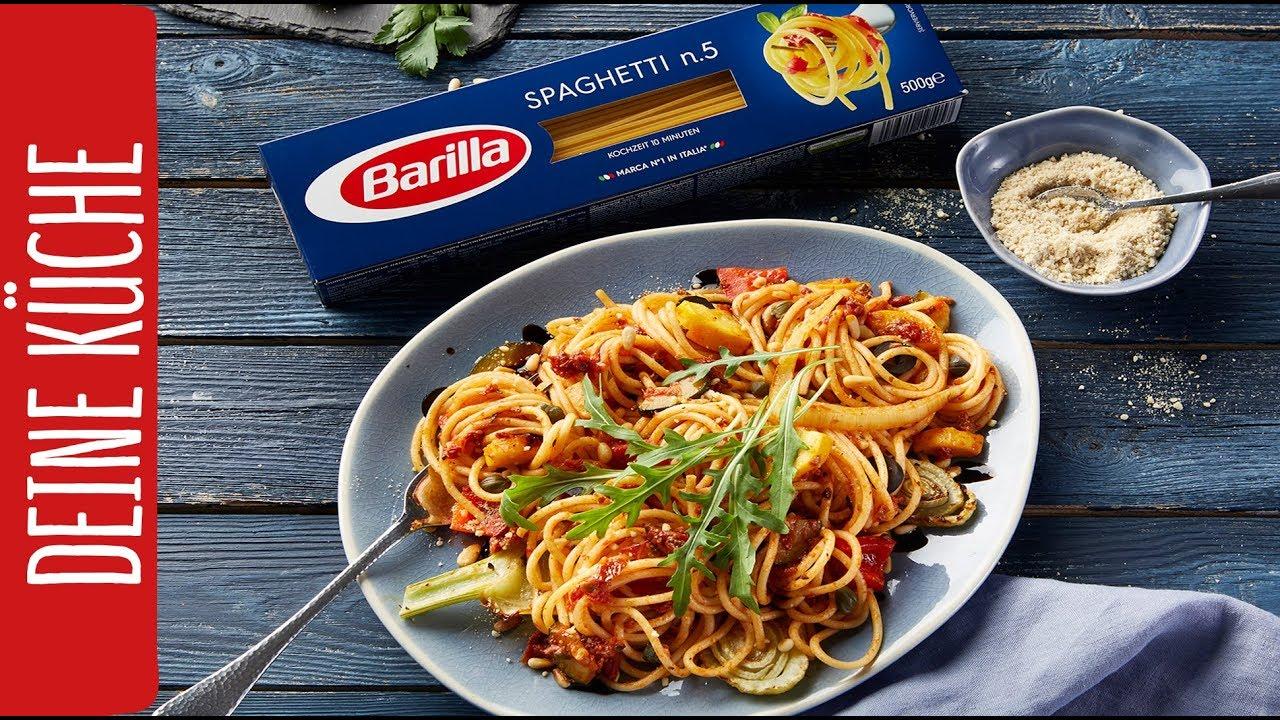 Veganes Schmorgemüse Sugo mit Spaghetti | REWE Pastamaster | Kandidat  Nummer 2