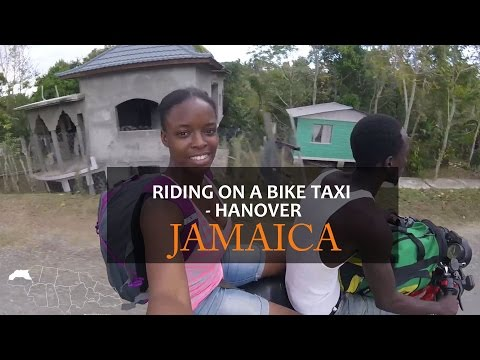 Riding on a Bike Taxi in Hanover Jamaica