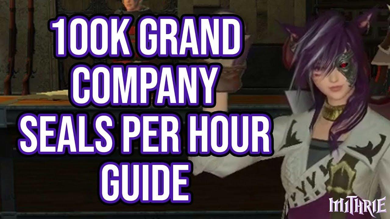 FFXIV 2 45 0468 100k+ Grand Company Seals in 1 Hour Guide