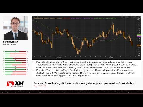 Forex News: 13/07/2018 - Dollar extends winning streak; pound pressured on Brexit doubts