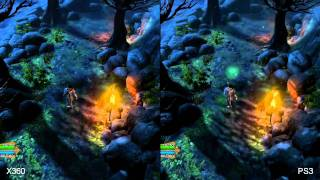 Dungeon Siege III 360 vs PS3 Comparison HD