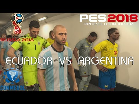 PES 2018 (PS4 Pro) Ecuador v Argentina WORLD CUP QUALIFIERS 10/10/2017 PREDICTION 1080P 60FPS