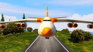 BIGGEST PLANE ON SMALLEST AIRFIELD! - GTA 5 Challenges #2 (GTA 5 Funny moments)