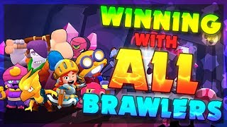 Winning with ALL Brawlers 500+ Trophy in Showdown!
