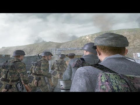 Call of Duty 2 - German Marines Scale the Cliffs of Dover (German D-Day) thumbnail