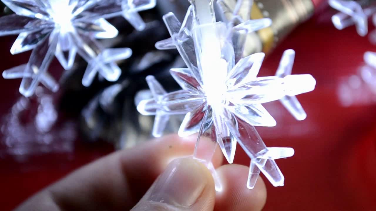 LED гирлянда на батарейках для ёлки (Новогодняя светодиодная .