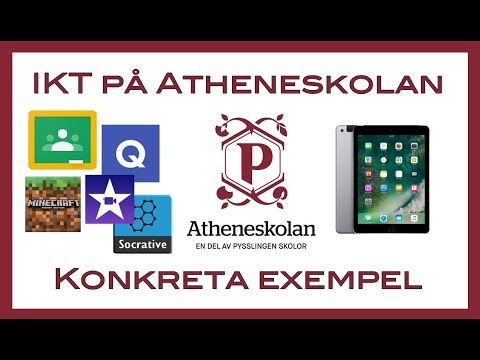 IKT på Atheneskolan - konkreta exempel