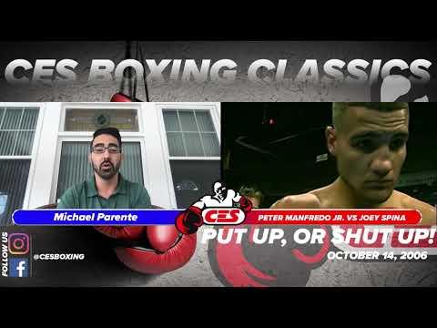 "CES Boxing Classics: Peter Manfredo vs Joey Spina ""Put Up Or Shut Up"" 2006 ESPN 2"