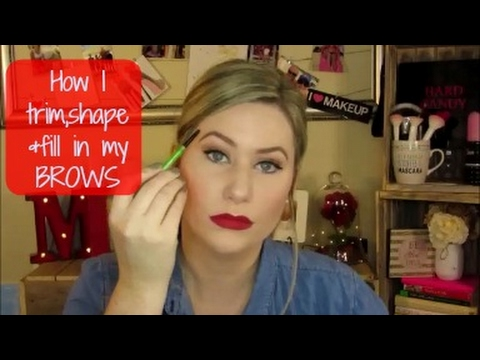 How I trim, shape & fill in my BROWS!
